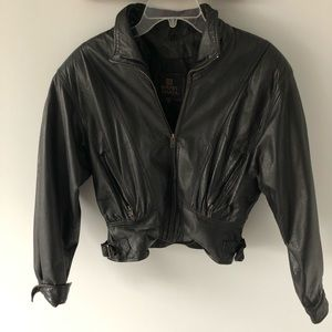 Jackets & Blazers - BYRNES & Baker Vintage 1980/90s Leather Jacket